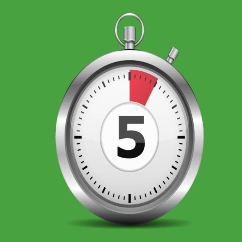 5 دقیقه یادگیری یک عمر تمرین